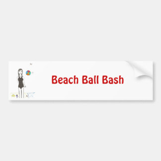 Beach Ball Bash Bumper Sticker
