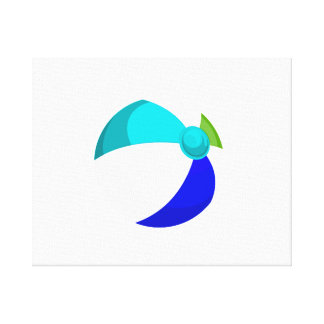 beach ball blue teal green.png stretched canvas print