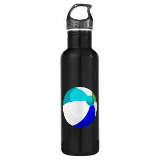beach ball blue teal green.png 24oz water bottle