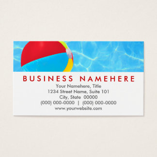 Beach Ball Business Cards