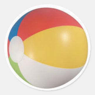 Beach Ball Classic Round Sticker