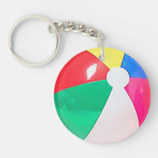 """""""Beach ball"""" design gifts and products Keychain"""