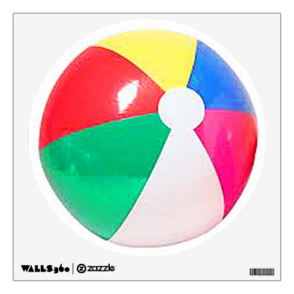 """Beach ball"" design gifts and products Wall Decal"