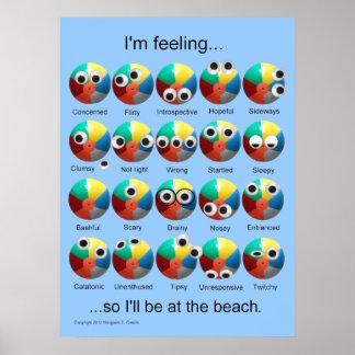 Beach Ball Emotions Poster