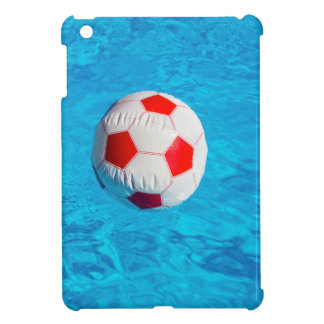 Beach ball floating  in blue swimming pool iPad mini cases