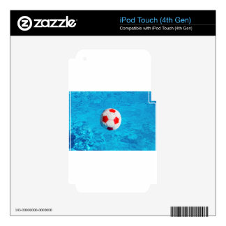 Beach ball floating  in blue swimming pool iPod touch 4G skins