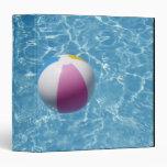 Beach ball in swimming pool 3 ring binder