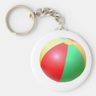 Beach Ball Keychain