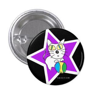 Beach Ball Kitty Button