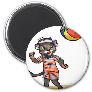 beach ball Kitty Magnet