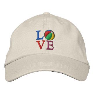 Beach Ball LOVE Embroidered Baseball Hat
