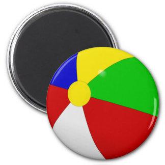 Beach Ball 2 Inch Round Magnet