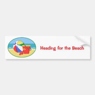 Beach Ball, Pail & Shovel at the Shore Car Bumper Sticker