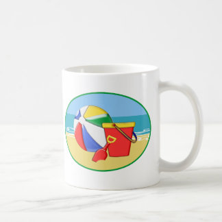 Beach Ball, Pail & Shovel at the Shore Coffee Mug