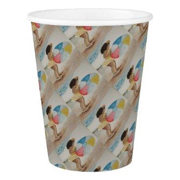 Beach Ball Paper Cup