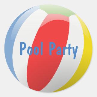 Beach Ball Party Envelope Seal