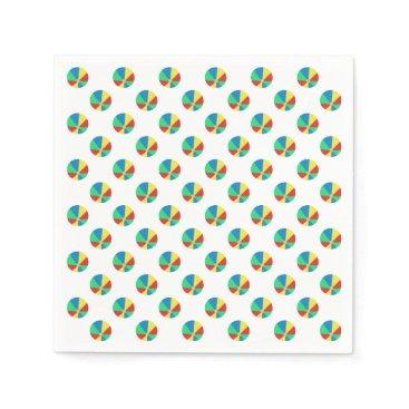 Beach Themed Beach Ball Pattern | Pool Party Paper Napkin