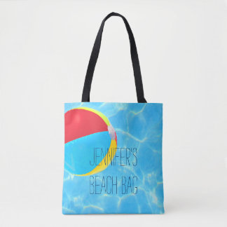 Beach Ball Personalized Tote Bag