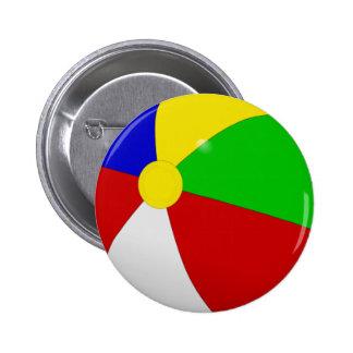Beach Ball Pinback Button