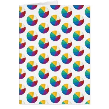 Beach Themed Beach Ball Polka Dots - Fun Summer Print Card