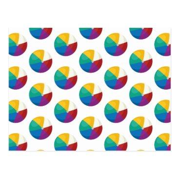 Beach Themed Beach Ball Polka Dots - Fun Summer Print Postcard