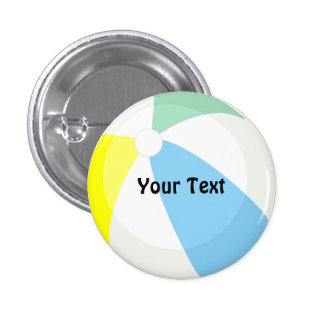 Beach Ball Pool Party Custom Name or Game Champ Button