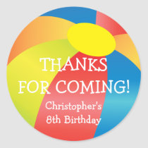 Beach Ball Pool Party Thank You Sticker