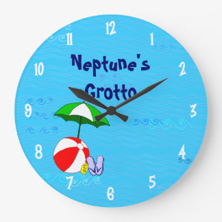 Beach Ball Pool Toys Custom Clock White Numbers