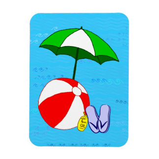 Beach Ball Pool Umbrella Flexi Magnet