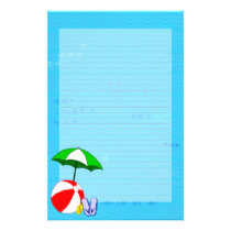 Beach Ball Pool Umbrella Lined Stationery