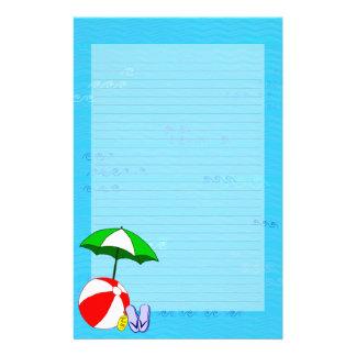 Beach Ball Pool Umbrella Lined Stationery