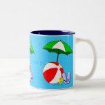 Beach Ball Pool Umbrella Mug