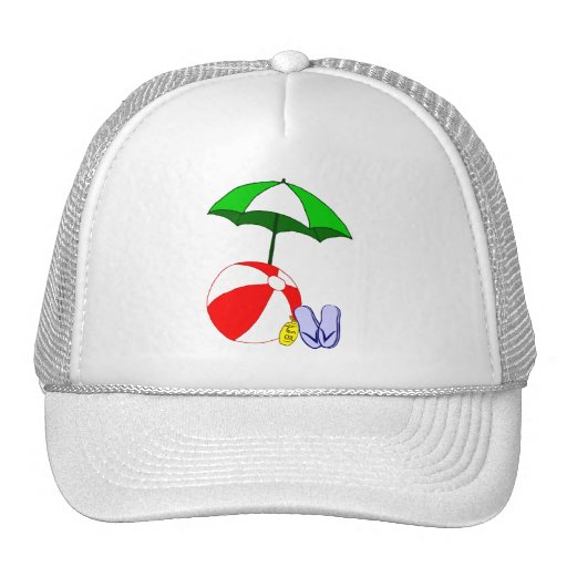 Beach Ball Pool Umbrella Template Mesh Hats