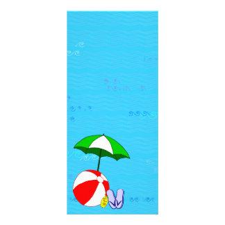 Beach Ball Pool Umbrella Template Rack Card