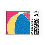 Beach Ball Postage Stamp