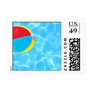 Beach Ball Postage Stamps