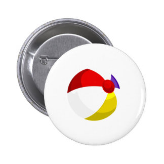 beach ball red blue white png pinback button