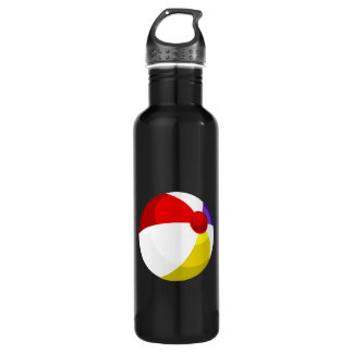 beach ball red blue white.png 24oz water bottle