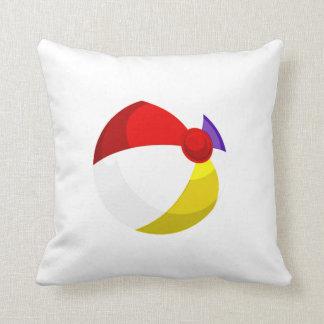 beach ball red blue white.png throw pillow