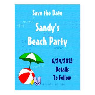 Beach Ball Save the Date Postcard