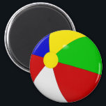 """Beach Ball Stateroom Door Marker Magnet<br><div class=""""desc"""">Beach Ball Stateroom Door Marker.  A Fun door marker for your next Caribbean Cruise,  or just to remind you of a fun summer day.</div>"""