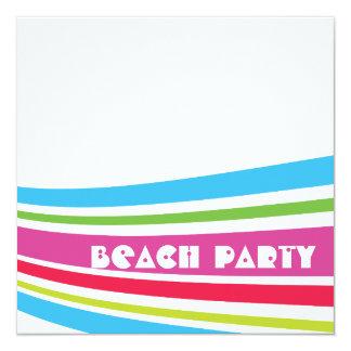 Beach Ball Striped Salt Water Ocean Beach Party Card