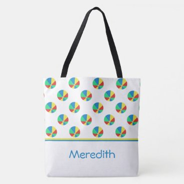 Beach Themed Beach Balls | Personalized Tote Bag