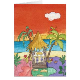 Beach Bar at Sunset Greeting Card