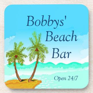 Beach Bar-Personalize It! Coasters