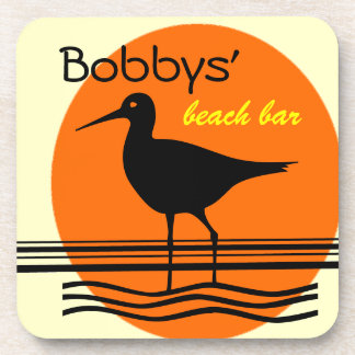 Beach Bar-Personalize It Beverage Coasters