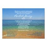Beach Bat Mitzvah Wedding Invitation