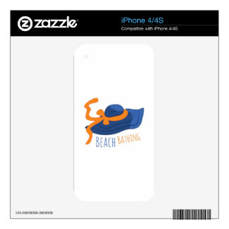 Beach Bathing Decal For iPhone 4