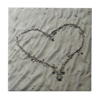 Beach Bathroom Heart Tile