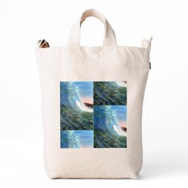 Beach Themed beach,beach wave,wave,waves,beach waves,surfing duck bag